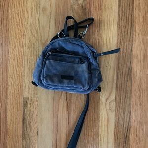 Bags - Grey corduroy mini backpack